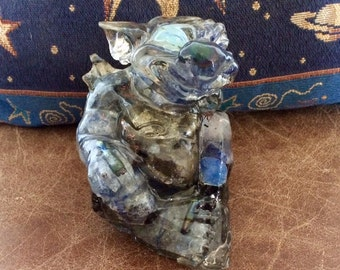 Baby Gargoyle, Dragon, Blue Moon born. Blue Crystals, Orgon, Approx 1 lb 12 ounces, Magickal! Elemental Energy and Blue Moon blessed.