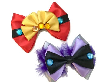 Emperor's New Groove Hair Bow Disney Inspired Emperor Kuzco Hair Bow and Yzma Hair Bow