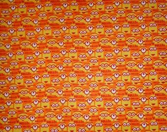 Orange Bello Minion Toss Cotton Fabric by the Yard