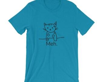 Meh Cat...Super Cute Funny T-Shirt