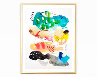 Abstract art, Bright colorful original abstract acrylic painting, modern wall art, wall art decor, poster art, original wall art