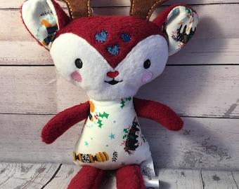 Handmade Reindeer Christmas Stuffed Toy