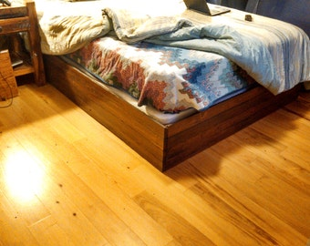 Bed Frame, Reclaimed Barnwood Flooring