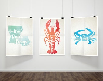 Louisiana Prints Set