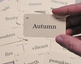 Mini Autumn flash cards