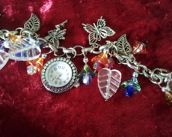 All glass, fairy flowers and it tells the time!
