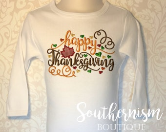 Thanksgiving Shirt, Turkey Day Shirt, Personalized Thanksgiving, Fall Shirt, Turkey, Girls Thanksgiving, Boys, Babies