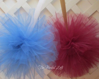"Extra Large Tulle Pom Poms 12"", Wedding, Aisle, Garden, Shower, Party Decor - Choose from 21 Colors - Custom - Design Your Own"