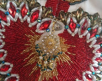 Custom Hand Beaded Corset - Your size and design