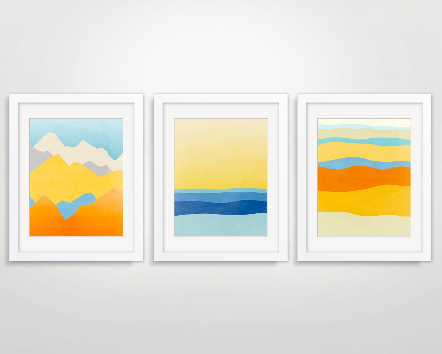 Colorful Wall Art Prints Set of 3 Art Prints Abstract Large