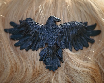 Raven Hair Comb Black