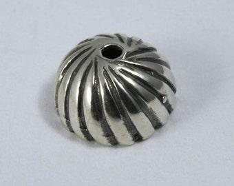 Sterling Silver 8mm Bead Cap #BSB024