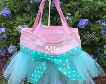 Pink and Aqua Tutu Bag/Tutu Ballet Bag/Tutu Dance Bag
