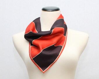 Red and Black Vera Scarf - Vintage 1960s Op Art Vera Neumann Scarf