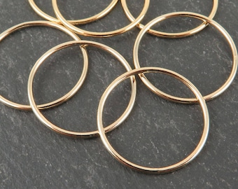 Gold Filled Stacking Ring 19mm ~ Size N/7/55