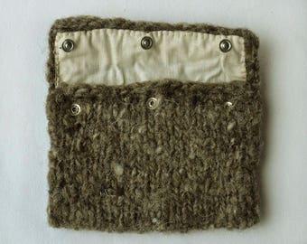 Woolen Pouch * Handspun Irish Jacob Sheep Wool