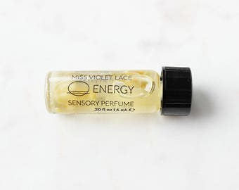 ENERGY perfume SAMPLE   Sensory Perfume with Citrus   100% natural and vegan