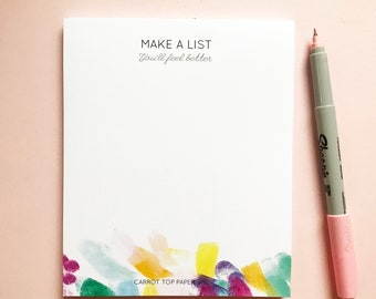 Make a List notepad - Bright Pastels - To do list