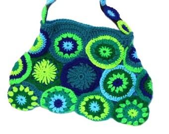 CIRCLES ~ Crochet Bag Granny Square