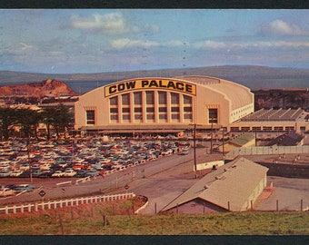 San Francisco Postcard - Vintage Color Postcard of the Cow Palace, California, USA from 1956