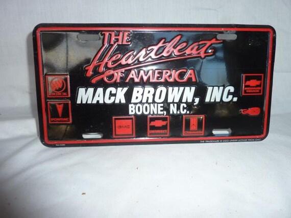 Vintage Chevrolet Front License Mack Brown Boone NC