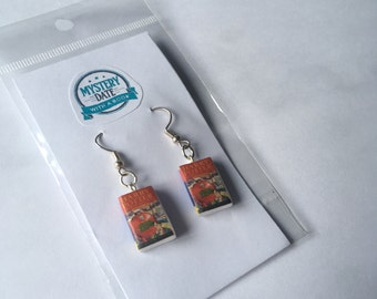 Harry Potter mini book earrings