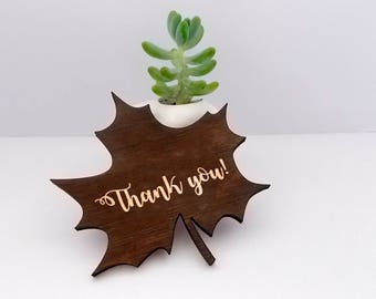 Thanksgiving Table Decor Leaf Place Card Thanksgiving Decor Wooden Fall Decor Fall Party Thanksgiving Gift Thanksgiving  Thank You Wood Leaf