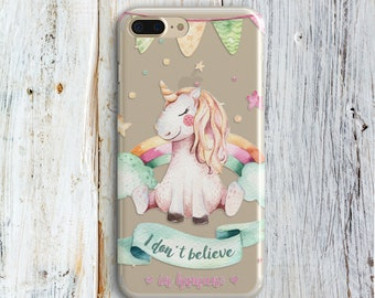 Silicone Phone Case iPhone 8 Plus 8 Case iPhone 7 Plus Cover 7 iPhone 6 Plus iPhone SE Samsung Galaxy S6 S7 S8 iphone X Cute Unicorn Cases