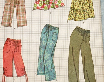 UNCUT, Simplicity 2414, Sewing Pattern, Misses', Size 8-16, Pants, Two Lengths, or Shorts and Skirt in Two Lengths, OLD2NEWMEMORIES