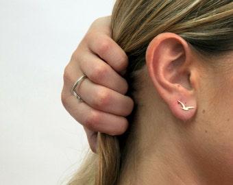 Small Seagull stud Earrings, Flying Seagull Posts, Silver Bird Earrings, Tiny Bird Earrings, cyber monday, sale, christmas