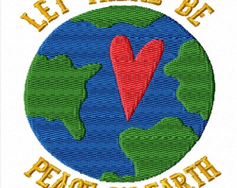 Let There Be Peace on Earth -An Inspirational Machine Embroidery Design