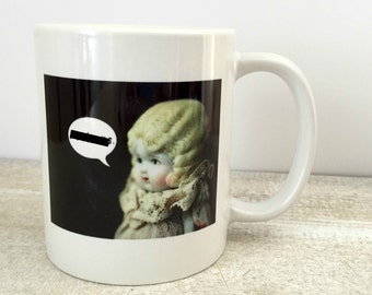 Mature Listing Adventures of Claudia Censorship Porcelain Mug Funny Doll Photography