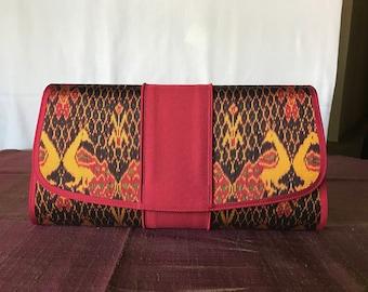 Handmade silk clutch 004