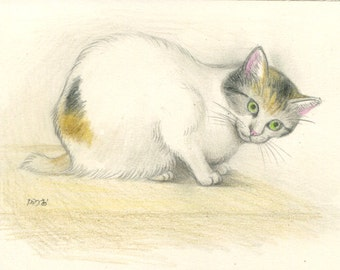 Cat original drawing - P001February2016