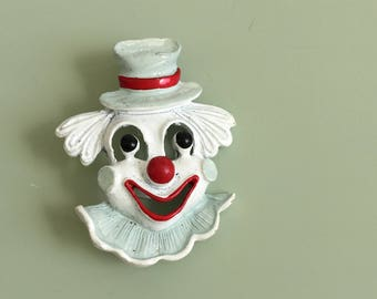 Vintage Signed Gerry's  Clown Brooch