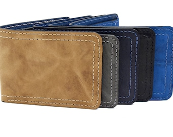 Genuine leather wallet,Leather Wallet, Small Wallet ,Bi-Fold Wallet,Distressed wallet.
