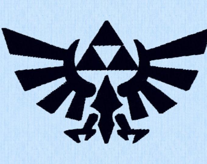 Legend of Zelda Symbol Embroidery Design