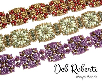 Maya Bands beaded pattern tutorial by Deb Roberti