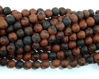 Matte Mahogany Obsidian, 6mm (6.5 mm) Round Beads, 15.5 Inch, Full strand, Approx 62 beads, Hole 1 mm (311054008)