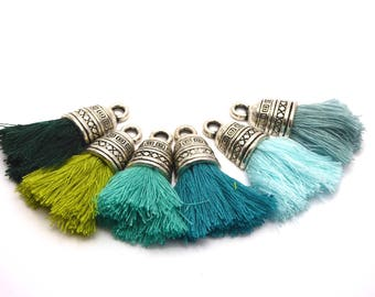 1 tassel with 4 cm silver plated Cap