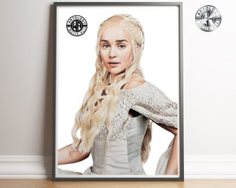 Daenerys Targaryen Drawing A4 Print - Artology