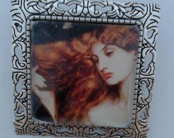 Pre Raphaelite Redhead Beauty Brooch