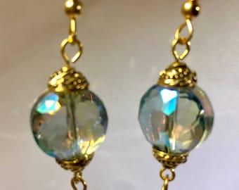 Aurora Borealis Dangle Earrings
