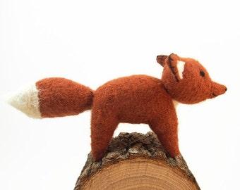 waldorf toy, toy fox, waldorf fox,stuffed animal, all natural toy, eco friendly fox, red fox, stuffed wool toy, fibre art