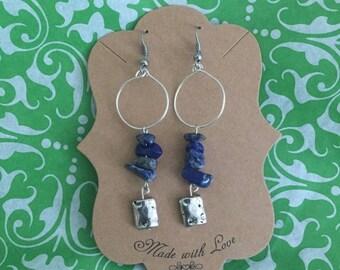 Blue Lapis Lazuli earrings
