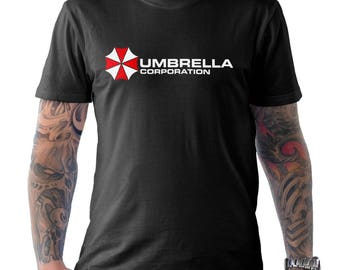 Umbrella Corporation Corp Resident Evil Capcom Gamer T Shirt Black Small to XXL