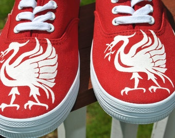 Custom Liverpool Football club design size 10 - SOLD