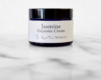Jasmine Exquisite Facial Cream, Organic Formula - Natural Moisturizer for Dry, Maturing, Dry/Acneic and Sensitive Skin Types