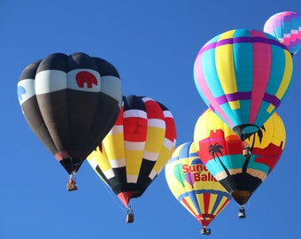 Hot Air Balloon Photo of a Mass Ascension at the 2017 Albuquerque Balloon Fiesta in New Mexico