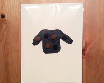 pompom sweater greeting card